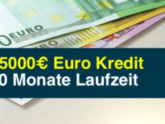 25000€ Euro Kredit 60 Monate Laufzeit